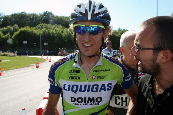 Franco Pellizotti after the finish in Vittel