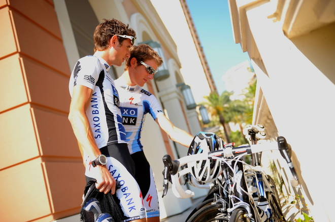CYCLING-FRA-TDF-2009-SAXO-BANK-TRAINING-SCHLECK