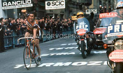 Eddy Merckx wins his seventh Milan-San Remo