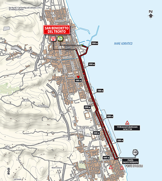 Tirreno - Adriatico 2014, stage 7 map