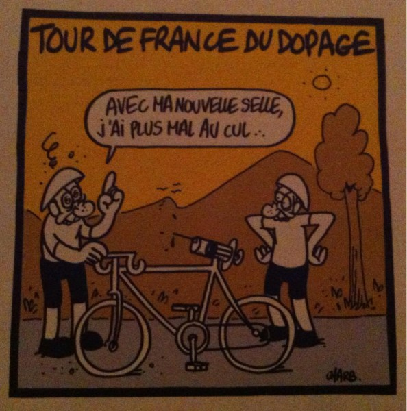 "Автор: Charb; ""My ass doesn't ache any more with this new saddle"", 1998"