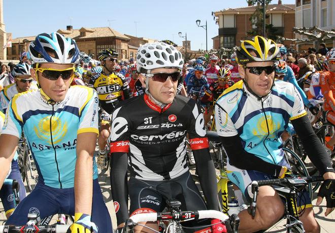 Три чемпиона Тур де Франс на старте этапа