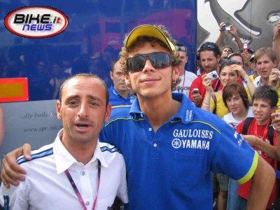 Беттини с Валентино Росси