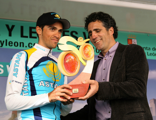 CYCLING-SPAIN-CASTILLA LEON-CONTADOR