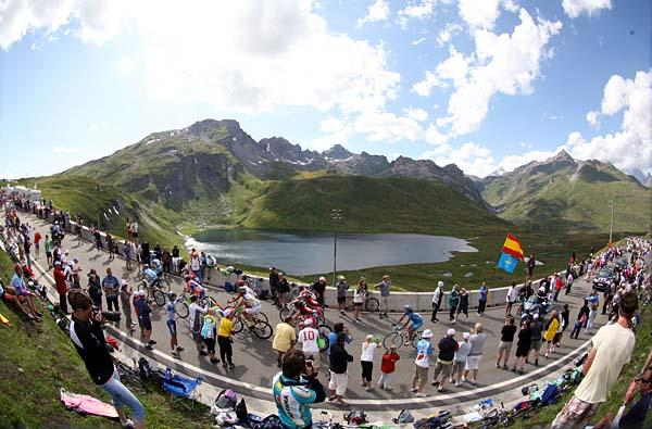 The Petit Saint Bernard pass was one of two big climbs in stage 16