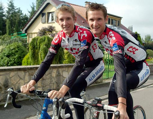 cyclisme frank et andy schleck