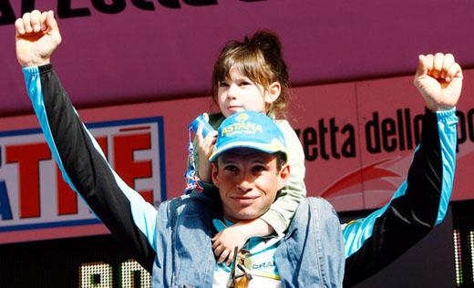 Паоло с дочерью Марикой на Джиро 2007 года