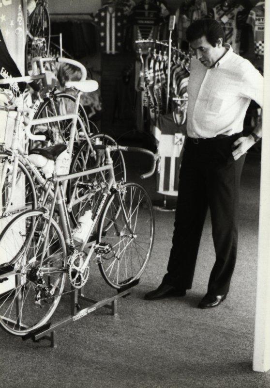Eddy et ses vélos en 1985