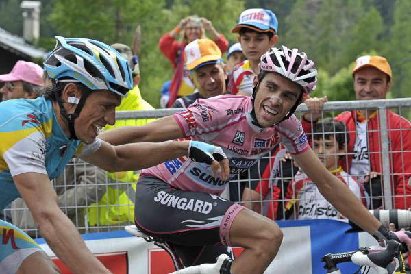 Contador and Tiralongo