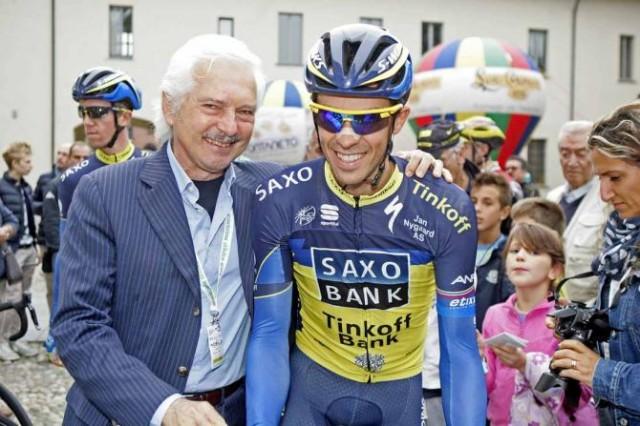 Джани Савио и Альберто Контадор. Photo: © Bettini