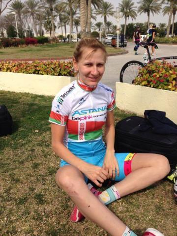 Чемпионка Белорусии Алена Амалюсик на гонке в Омане