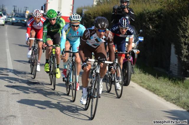 Тиррено-Адриатико 2014, 4 этап. Алексей Луценко в отрыве. Photo: www.steephill.tv