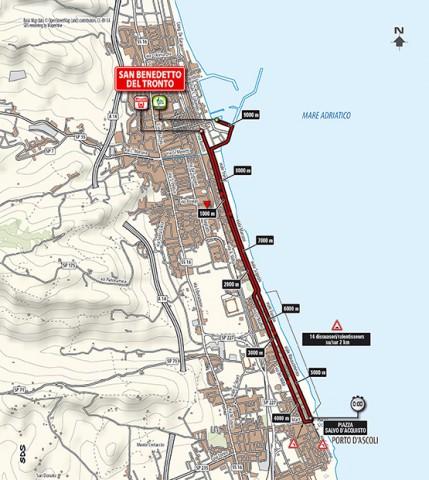 Tirreno - Adriatico 2014, stage 7 map