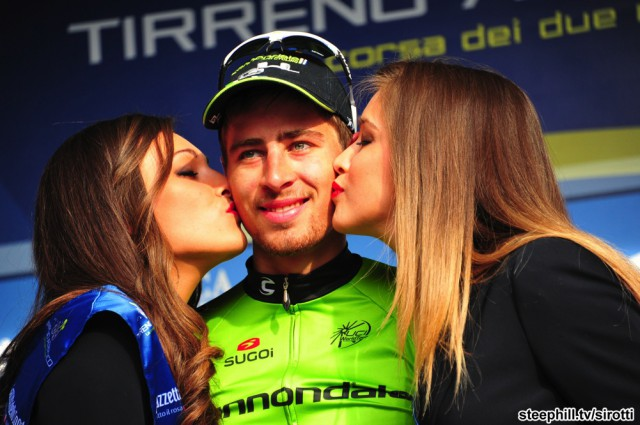 Победитель 3-го этапа, словак Петер Саган. Photo: www.steephill.tv/sirotti