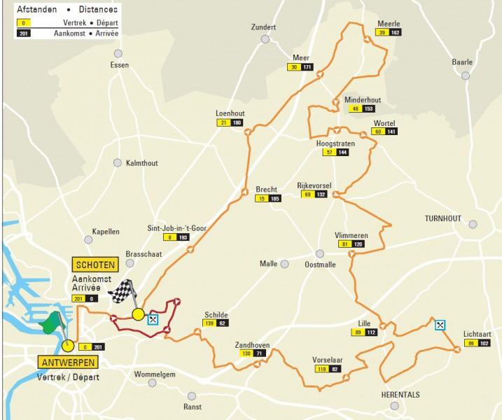 Scheldeprijs 2014 map