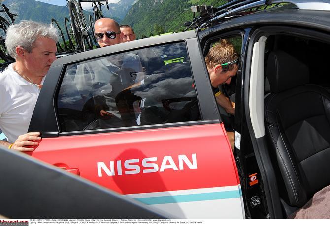 Анди Шлеку никогда не везло на Дофине. Photo: © Tim de Waele/TDW Sport