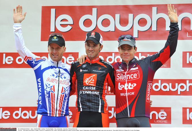 Вальверде одержал победу в 2009 над Леви Лефаймером и Кэделом Эвансом. Photo: © Tim de Waele/TDW Sport