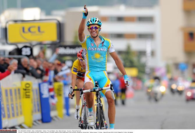 Бэнг! Альберто Контадор стреляет в 2010. Photo: © Tim de Waele/TDW Sport