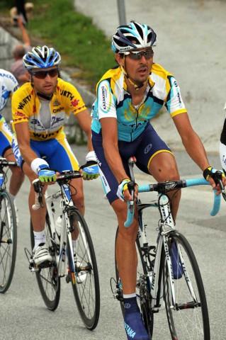 Тур Швейцарии 2009. Андреас Кледен (Астана) и Тадей Вальявец (Ag2r)