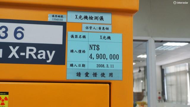 По текущему курсу цена за рентгеновский аппарат FSA состоит около US$160,000