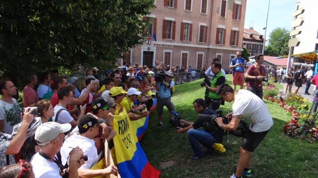 Колумбийские болельщики Найро Кинтаны