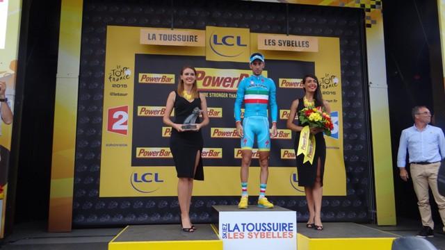 Подиум 19-го этапа Тур де Франс 2015